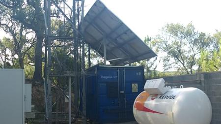 Sistemas híbridos fotovoltaicos de gas propano