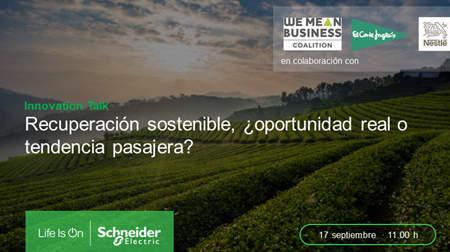La recuperación sostenible del Retail, la Alimentación y las bebidas protagonistas de la próxima Innovation Talk de Schneider Electric