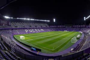 Una nueva experiencia a través de la luz en el estadio José Zorrilla