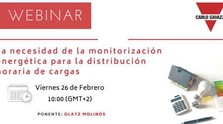 Webinar Carlo Gavazzi: La necesidad de la monitorización energética para la distribución horaria de cargas