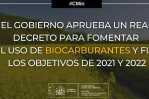 El Gobierno aprueba el Real Decreto para fomentar el uso de los biocarburantes y fijar los objetivos de 2021 y 2022