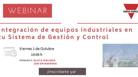 Nuevo Webinar Carlo Gavazzi: Integración de equipos industriales en tu sistema de gestión y control