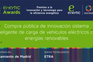 Compra pública de innovación sistema inteligente de carga de vehículos eléctricos con energías renovables
