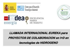 Webinar: Convocatoria EUREKA para proyectos colaborativos de I+D en tecnologías de hidrógeno